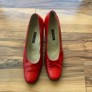 Escada red blocked heels 👠 10 B